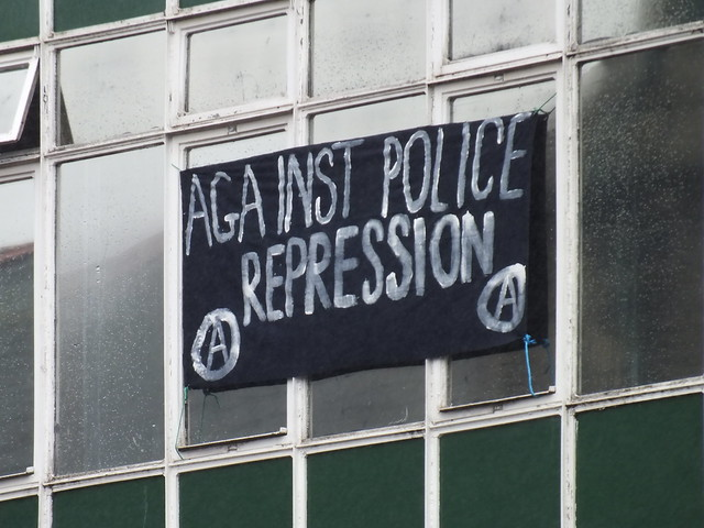 Squatters take over Canton Police Station, Cardiff