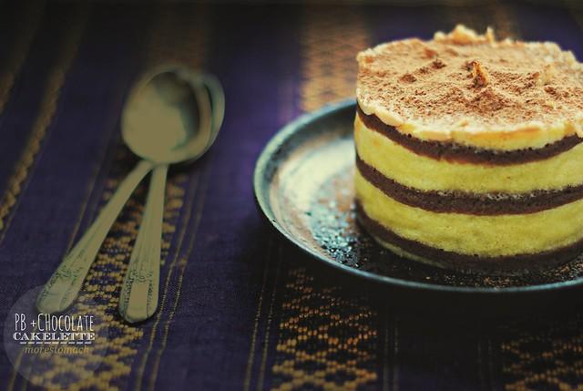 PB & Chocolate cakelette