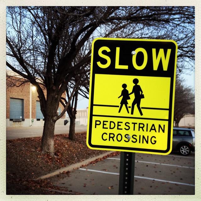 SLOW Pedestrian Crossing