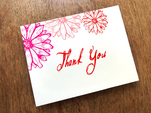 Hot Daisy Printable Thank You