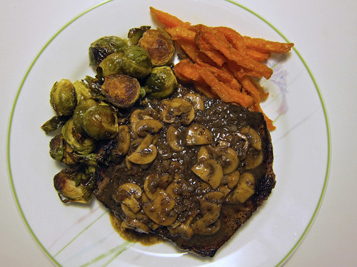 Steak, Sprouts and Sweet Spuds