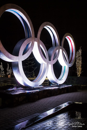 These are the Olympic Rings in the Village at Whistler BC... I took this late one night after most of the village had gone to sleep. It was really cool to walk around the village all by myself. Check out my website at www.lightfxstudio.com and my blog at lightfxstudio.wordpress.com