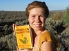 Rivera Sun with her new book, Dandelion Insurrection