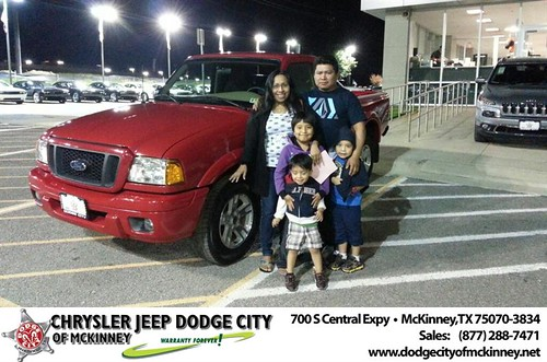 Thank you to Maria  Leon on your new 2005 #Ford #Ranger from Lyon Alizna and everyone at Dodge City of McKinney! #NewCarSmell by Dodge City McKinney Texas