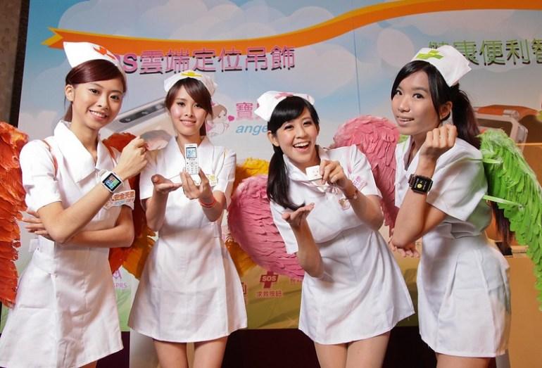 蓋德雲端四款天使系列新品,左起安全天使、小天使、寶貝天使、健康天使