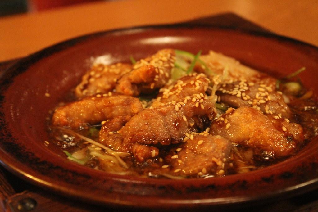 'Hot pot' de atún y puerro con pimienta sansho, en 'Mimasu-ya'