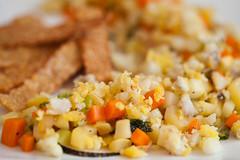 lauwarmer Salat vom Wurzelgemüse