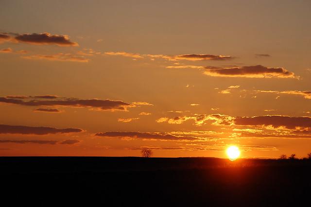 Sonnenuntergang bei Großmugl