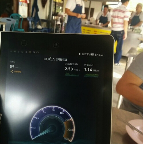 TOT 3G ณ ร้านข้าวมันไก่นายโฮ ต.บางน้ำจืด จ.สมุทรสาคร