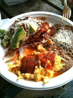Chilaquiles of yum from primavera food stand
