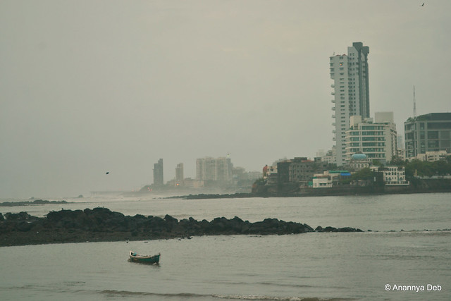 View of the Worli Sea Link from Haji Ali, July 2013