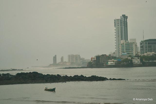 View of the Worli Sea Link from Haji Ali, July 2013