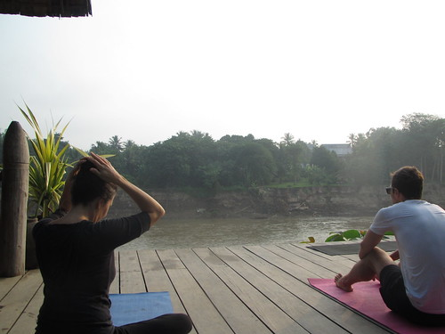 Yoga at Utopia by the river