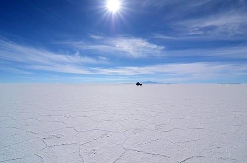 Salt desert jeep
