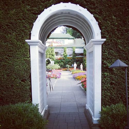 Garden Gate at Butchart Gardens, Victoria BC by @MySoDotCom