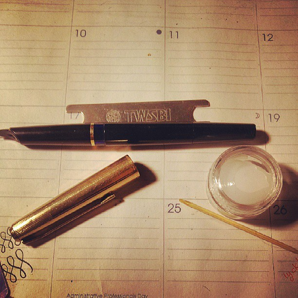 #Pelikan M30 #fountainpen now greased and ready for trial run.