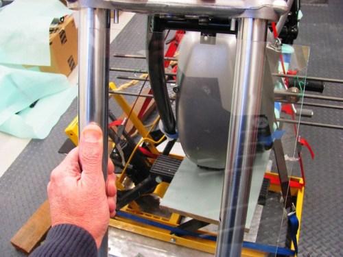 Positioning Glass on Fork Tubes