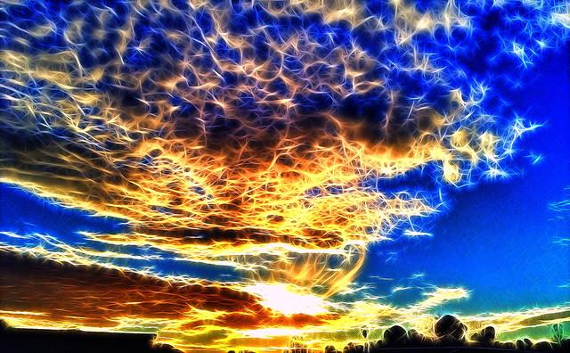 Tangled Sky Fire