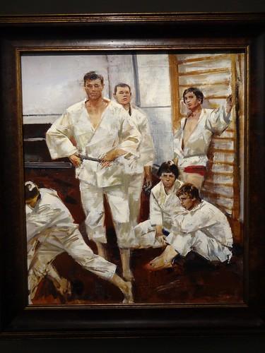 Judoists, by Oleg Ponomarenko. (1979).