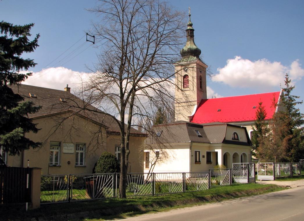 Kostol, stará a nová fara