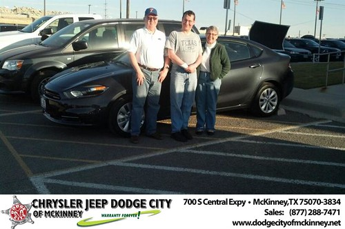 Thank you to Michael Shrum on your new 2014 #Dodge #Dart from Bobby Crosby and everyone at Dodge City of McKinney! #NewCarSmell by Dodge City McKinney Texas