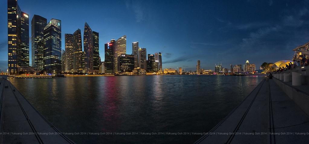 Blue Hour @ Marina Bay