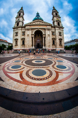 Outside Square, St. Stephen's Basilica, Budapest, Hungary