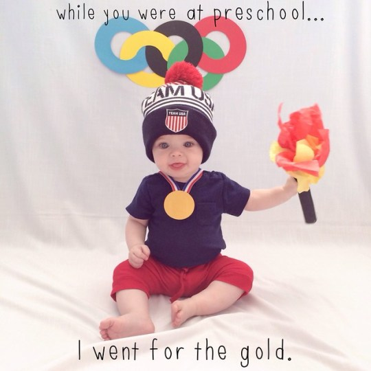 while you were at preschool...I went for the gold.