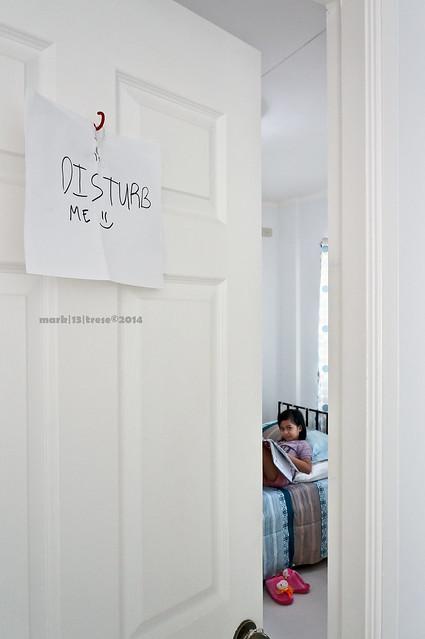 Mirari seeks attention Disturb Me sign on door