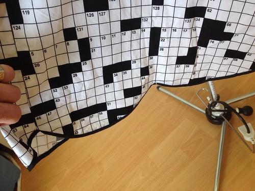 crossword dress #1 hem