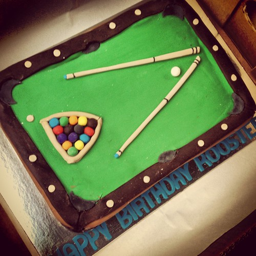 Richard's custom-made pool table cake. Happy Birthday, Rooster! <3