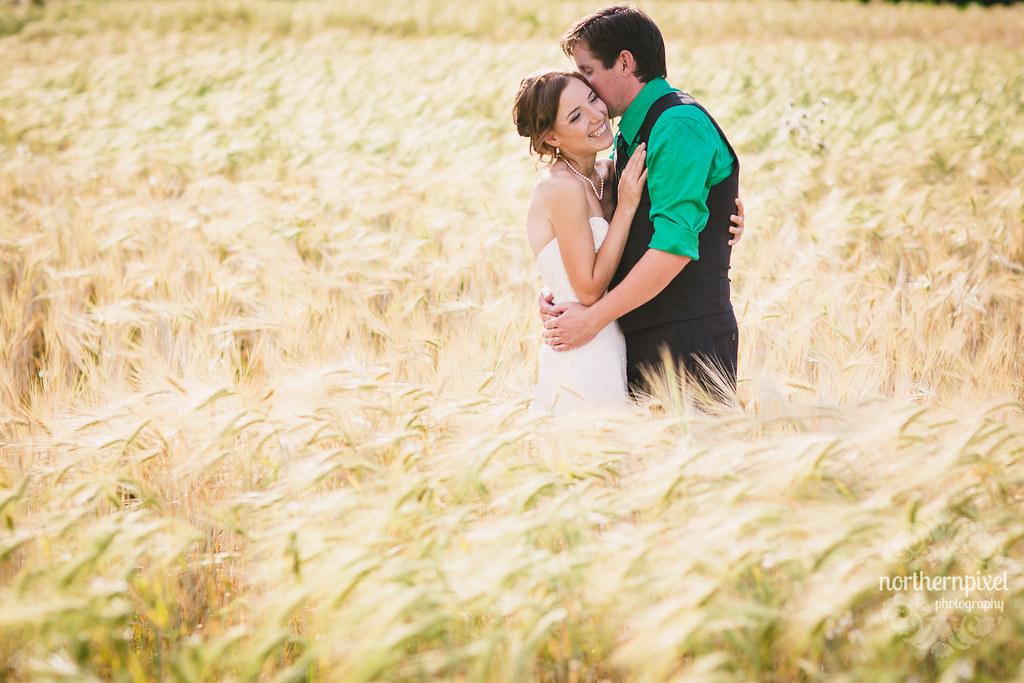 Newlywed Photos in the Barley