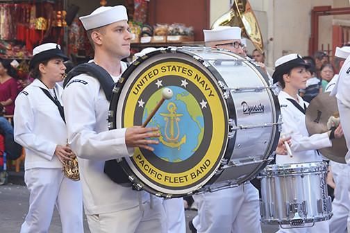 bass drum Pacific Fleet Band