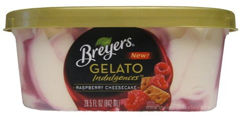 Breyers Gelato Indulgences Raspberry Cheesecake