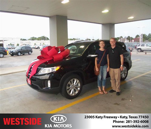 Westside Kia would like to say Congratulations to Nathan Mandeville on the 2014 Kia Sorento from Damon Clayton by Westside KIA