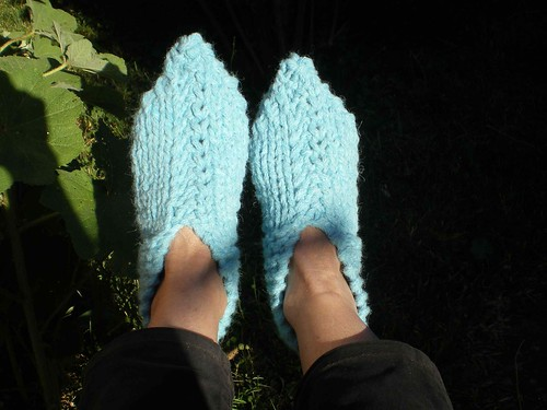 tricot chaussons adulte