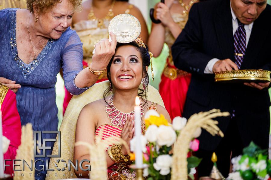 Cambodian wedding hair cutting ceremony
