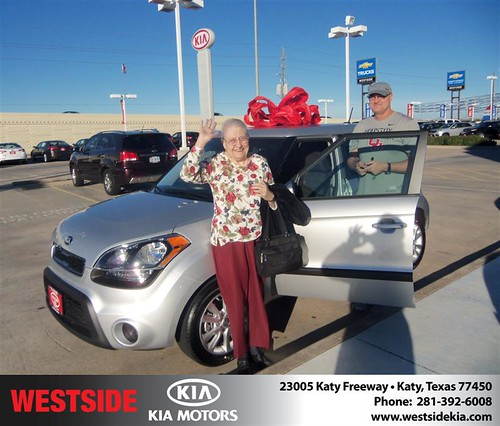 Happy Anniversary to Patsy Smith on your 2013 #Kia #Soul from Mohammed Ziauddin and everyone at Westside Kia! #Anniversary by Westside KIA