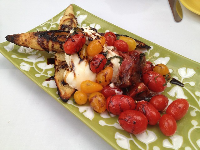 Burrata mozzarella with summer heirloom tomatoes - The Tropicale