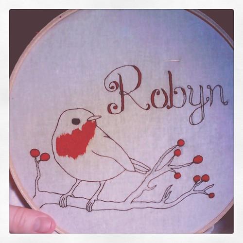 Embroidery progress