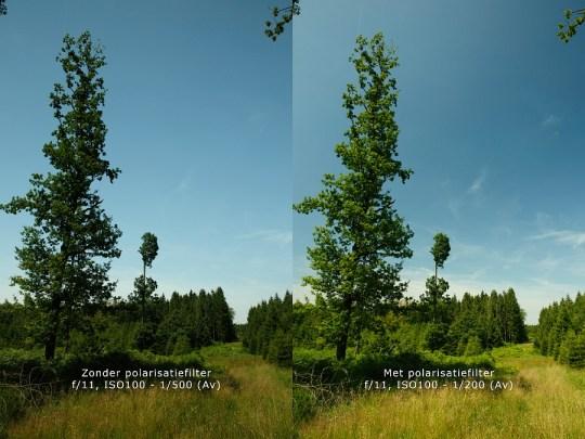 Traditioneel gebruik van een polarisatiefilter: het benadrukken en verfraaien van een blauwe lucht, samen met het effenen van het contrast tussen voorgrond en lucht.