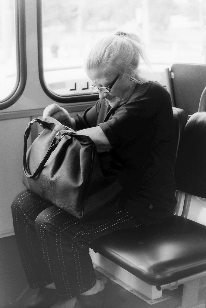 Old Lady in the Bus