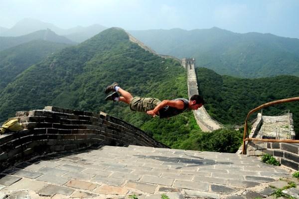 Volando en la Gran Muralla China