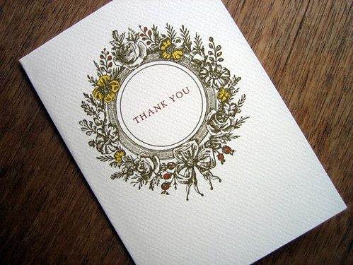 Vintage Wreath Thank You Card Download