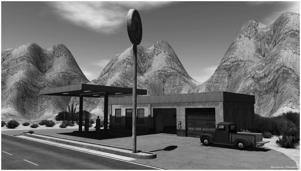 Gas station (by Benjamin Glendale)