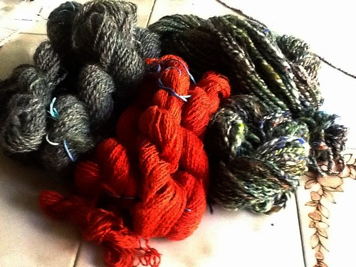 Pile o yarn