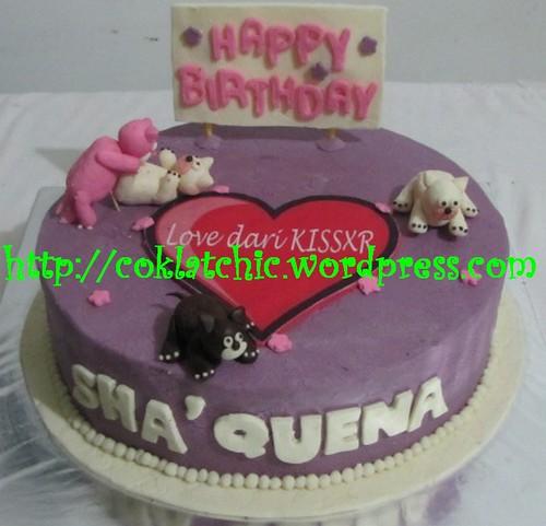 Kue Ulang Tahun Kucing Shaquena Coklatchic Cake