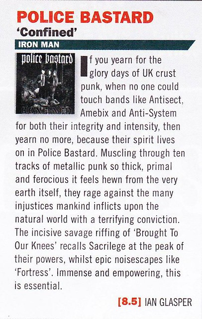 Police Bastard - Confined - Terrorizer review by Ian Glasper 2014