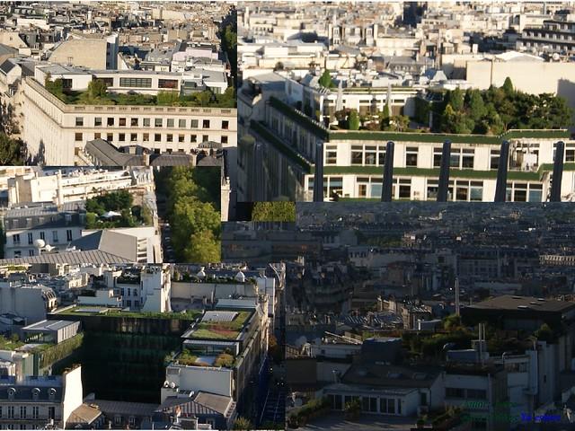 Tejados con jardín en Paris
