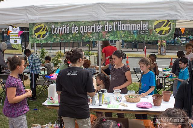 le stand artisitique du Comité de quartier de l'Hommelet